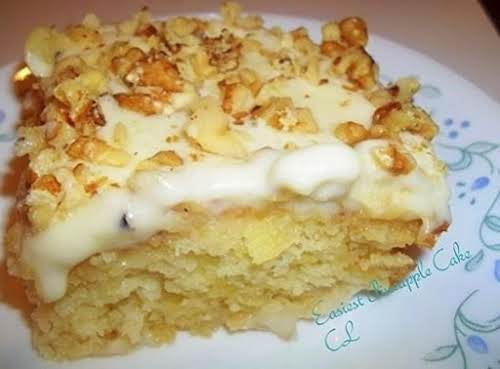 """The Original """"Easiest Pineapple Cake"""" """"I love anything pineapple and when you..."""