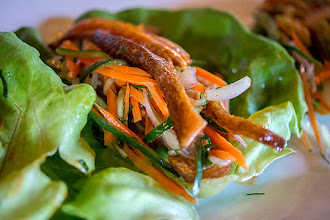 Photo: Pig Ear Lettuce Wraps at The Industry