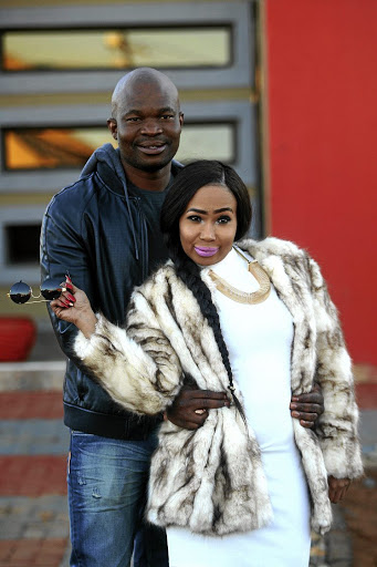 Mshoza with husband Thuthukani Mvula, in happier times.