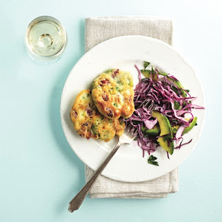 Romano Bean Fritters With Creamy Slaw