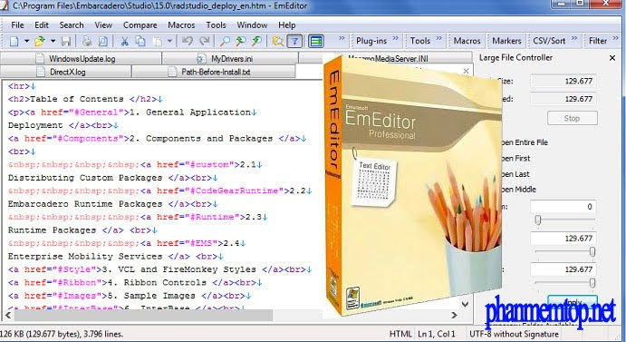 EmEditor Professional Free Download