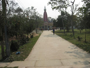 Photo: The magnificently spectacular entrance way to Sri-Angan Ashram with Gambhira Temple standing solemnly in the pristine and quaint Sri-Angan arena - the primary LilaBhoomi of Prabhusundar, famously and significantly known as Faridpur Sri-Angan