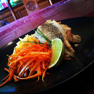 Pan Seared Yellowfin Snapper with Coconut Ginger Rice