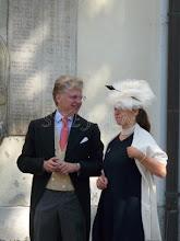 Photo: Count  Vittoria Mazetti d'Albertis, widower of the grooms sisters, Princess Filippa and Hereditary Princess Priscilla zu Sayn-Wittgenstein-Sayn