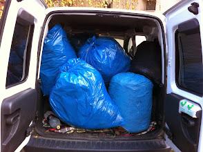 Photo: green garden waste donation from the neighbors  szállítom a szomszédságtól a kerti zöld hulladékot