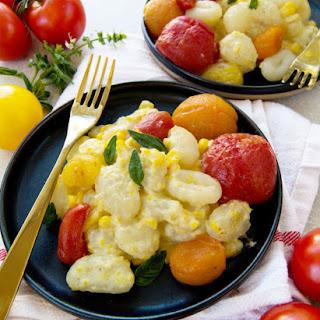 Sweet Corn and Roasted Tomato Gnocchi.
