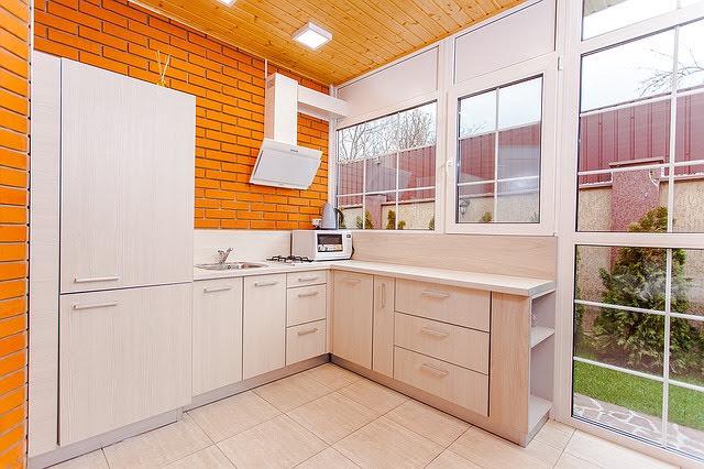 cocina anaranjado