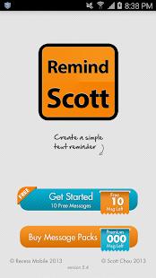 RemindScott- screenshot thumbnail