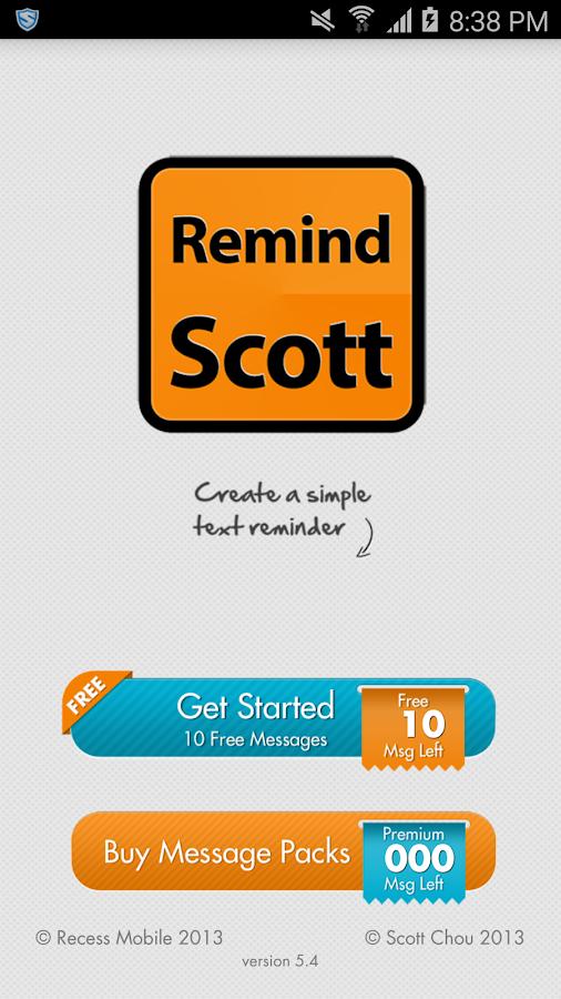 RemindScott- screenshot