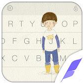 Little Boy Skin Flash Keyboard