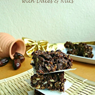 Chocolate Energy Bars with Dates and Nuts.