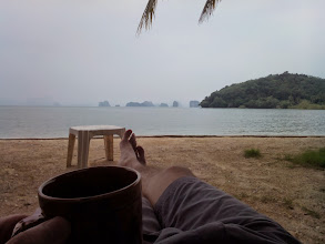 Photo: first decent cup of Joe in a week, Ko Yao Noi