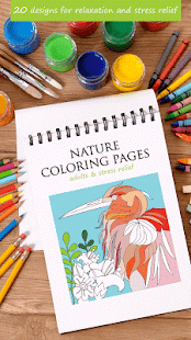 Nature Adults Coloring Pages - náhled