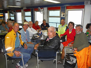 Photo: Day 40 Manitowoc to Ludington MI  Comparing stories with other cross country cyclists