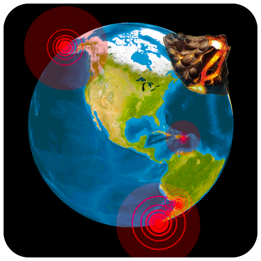 Quake & Volcanoes: 3D Globe of Volcanic Eruptions