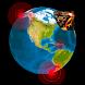 Quake & Volcanoes: 3D Globe of Volcanic Eruptions