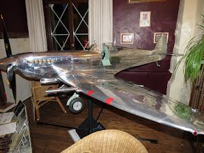 Photo: Spitfire à l'échelle 1/3 tout en aluminium construit à la main, une merveille !