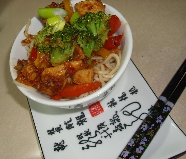 Szechuan Chicken With Pasta Recipe