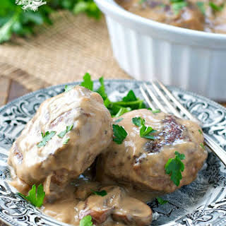 Slow Cooker or Oven Baked Salisbury Steak.