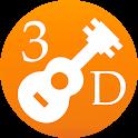 3D Ukulele Notes - How To Play Ukulele - Fingering icon