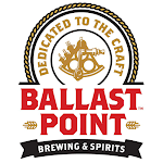 Logo of Ballast Point At Sea With Whiskey Oak Chips On Cask