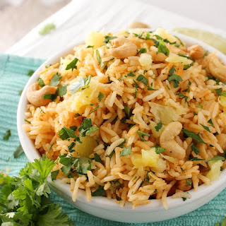 Tropical Coconut Pineapple Cashew Rice Recipe