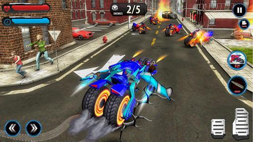 Flying Robot Police ATV Quad Bike City Wars Battle apktram screenshots 4