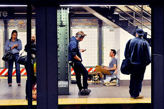 Photo: Waiting for the train, Union Square Station; New York City; October 2011