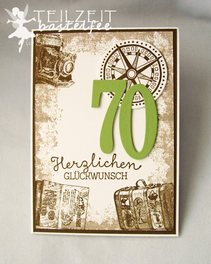 Stampin' Up! - Traveler, Reise, Ribba Rahmen Ikea, 70. Geburtstag, birthday, holiday, Berlin, Geldgeschenk, traveling, male card, Männerkarte