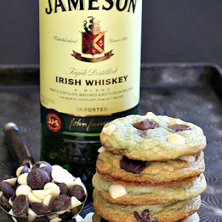 Jameson Mint Chocolate Chip Cookies