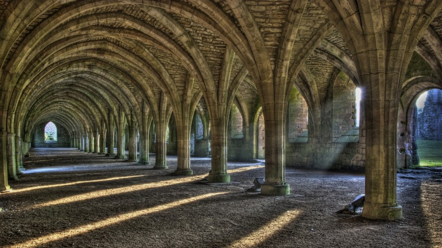 Ray by Matt Smith - Buildings & Architecture Architectural Detail ( spaces, interior, building, exteriors, arch, hdr, exterior, vaulted, architecture, vault, space, sunlight, engineering, tilt shift, landmark, landmarks, interiors, buildings, abbey )