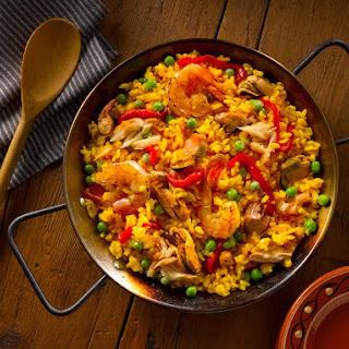 Paella Marinera - Rice with Seafood.