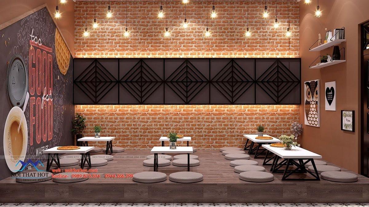 thiết kế cửa hàng pizza bau's 17