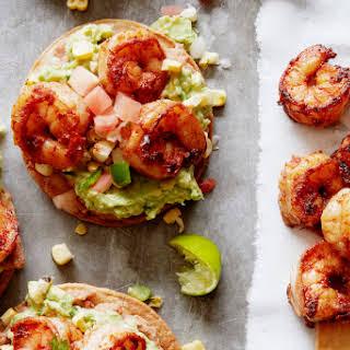 Avocado Shrimp Tostadas.
