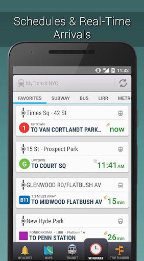 MyTransit NYC Subway, Bus, Metro North, LIRR (MTA) Screenshot