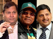 Ajay Gupta, Jacob Zuma and Atul Gupta. Pictures: REUTERS