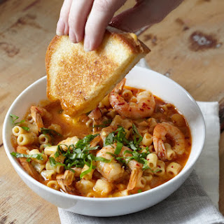 Spicy Tomato and Shrimp Soup.