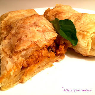 Thai Chicken Curry Strudel.