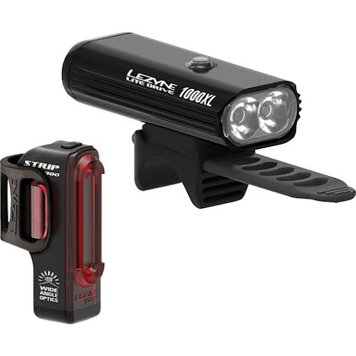 Lezyne Lite Drive 1000XL/StripPro Light Set, Black