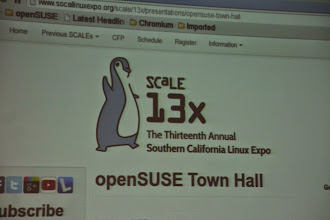 Photo: +openSUSE Town Hall talk