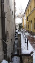 Photo: Seniau gatvės buvo gerokai žemiau