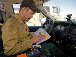 Photo: West Cinder Prescribed Burn, Twin Falls District BLM, Idaho, August 3, 2010, Fire Effects Monitor Dustin Smith