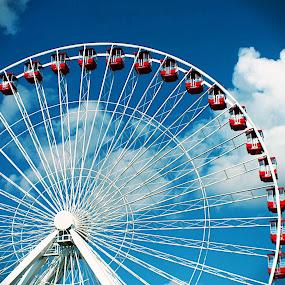 Ferris Wheel by Amelia Rice - Uncategorized All Uncategorized ( rides, sky, wheel, riding, outside, ferris wheel,  )