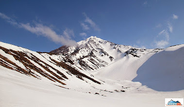 Photo: That's it - the main couloir to volcano Koryaksky (3456 m)
