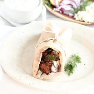 Greek Lamb Souvlakis.