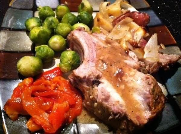 Roast Pork Rib Roast W/potatoes N Parsnip