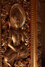Photo: Day 269 - Gold Leaf Relief in the  Royal Palace in Luang Prabang