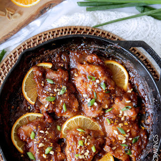 Sticky Thai Peanut Orange Chicken (30 Minutes)