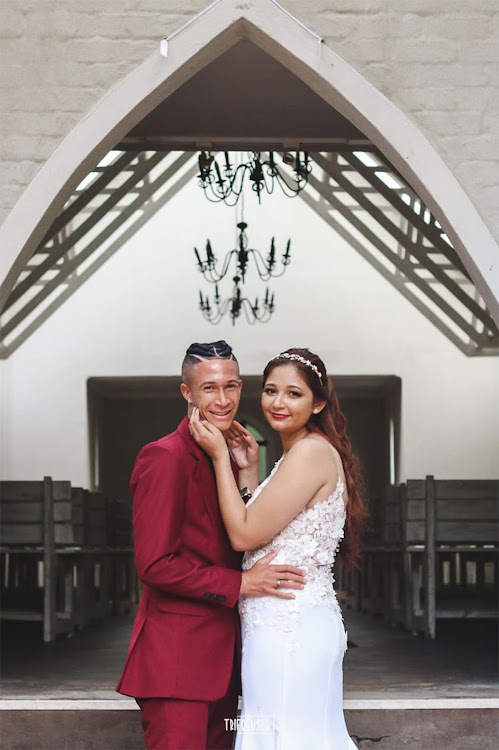Chippa star Gregory Damons and his wife Tiffany Gabriella.