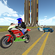 Bike Rider vs Cop Car City Police Chase Game